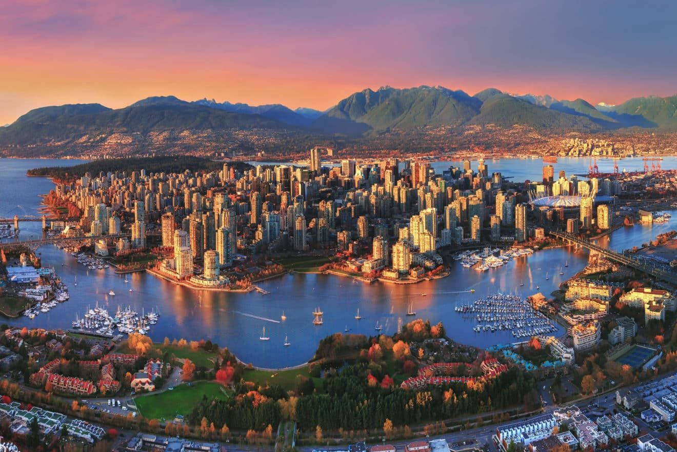 Aerial-Sunset-Vancouver